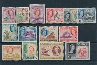 [83967] Southern Rhodesia good set Very Fine MH stamps