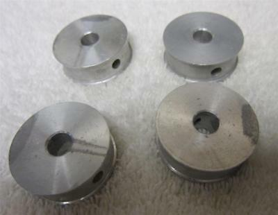 "FOUR 1-3/16"" ALUMINUM DRIVE FLAT BELT PULLEYS-375 WIDE WITH A 8mm CENTER"