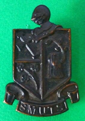 South Africa Regiment Smuts Scarce Army Armoured Military Knights Head Cap Badge
