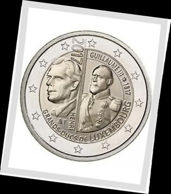 2 EURO *** Luxembourg 2017 *** Willem-Guillaume III *** Luxemburg 2017 !!!