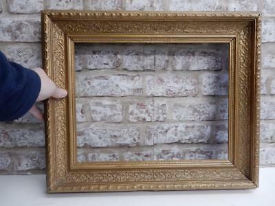 """vintage REALLY old picture frame fits a 14 inch X 11 """" painting"""