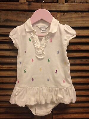 Ralph Lauren baby girl 12 months White Dress With Matching Nappy Knickers