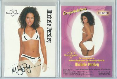 Orig. Michele Persley Autogramm - sexy Benchwarmer Trading Card - Serie 1 2003