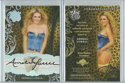 Orig. Andrea Lowell Autogramm - sexy Benchwarmer Trading Card - Sin City v. 2015