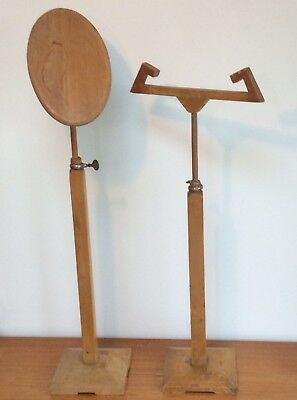 Pair Vintage Adjustable French Shop Display Stand London Girad Paris Mid Century