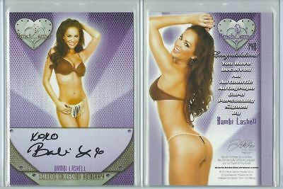 Orig. Bambi Lashell Autogramm - sexy Benchwarmer Trading Card - Eclectic 2 2016