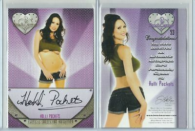Orig. Holli Pockets Autogramm - sexy Benchwarmer Trading Card - Eclectic 2 2016