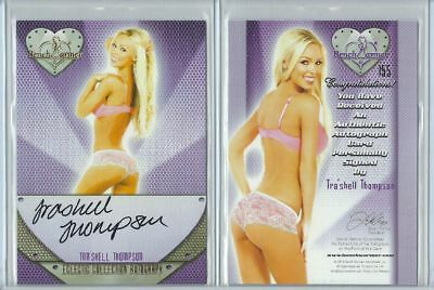Orig. Tra'Shell Thompson Autogramm - sexy Benchwarmer Card - Eclectic 2 von 2016