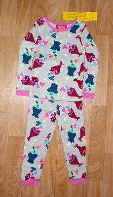 Dreamworks Trolls Poppy & Branch All Over Long Sleeve Pajamas Size 4T New Tags