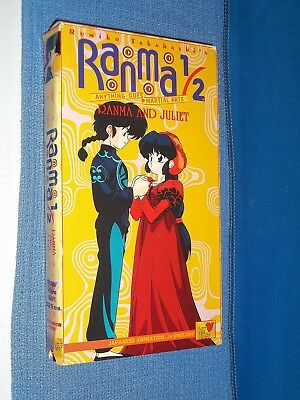 Ranma 1/2 Ranma and Juliet VHS Video dubbed anime