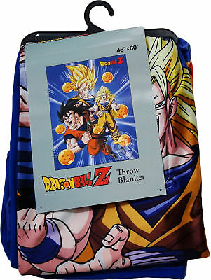 Dragon Ball Z Goku Three Forms w/ Dragon Balls Sublimation Throw Blanket 46x60""