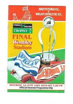 1985 Freight Rover Final Brentford v Wigan Athletic at Wembley programme