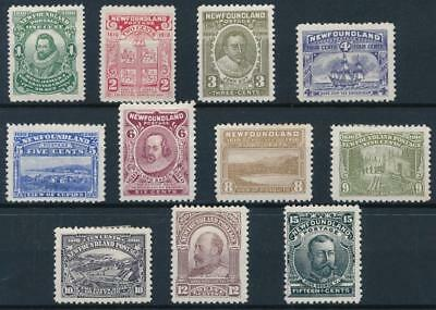 [33244] Newfoundland 1910 Good RARE set Very Fine MH stamps Value $530