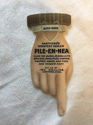 Celluloid Advertising HAND Vintage Bookmark Skin Doctor Antique Medical Quackery