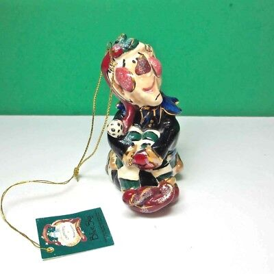 Blue Sky Clayworks Jester Christmas Ornament by Heather Goldminc New w Tags
