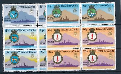 [7717] Tristan da Cunha 77 boats good set very fine MNH stamps in blocs of 4