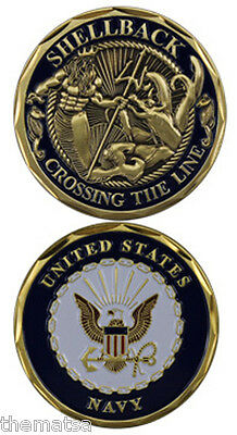 Navy  Logo Crossing The Line Shellback Military Challenge Coin