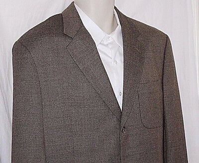 42L JOSEPH ABBOUD Made in USA Brown-Tan-Black Sports Jacket Dual Vent