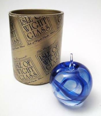 Vintage Isle Of Wight Art Glass Apple Shaped Paperweight Boxed & Labelled
