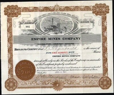 Empire Mines Co, 1907, Provo, Utah, Uncancelled Cft, 3 Assignments On Reverse