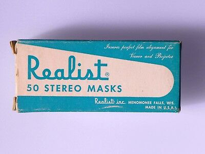 Stereo Realist masks - Box of 50 - Normal size 2120, new old stock