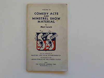 WWII Booklet 1943 Comedy Acts And Minstrel Show Material By Mort Lewis WW2 Book