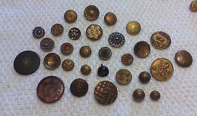 Antique Brass Buttons Perfumes Cut Steels Carved and More