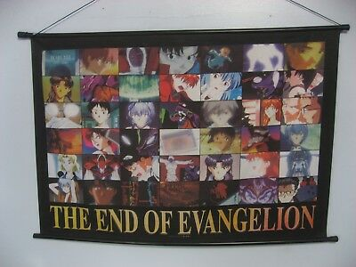 "THE END OF EVANGELION RARE POSTER BANNER 1997 ANIME ADVERTISEMENT 35""x24"" JAPAN"