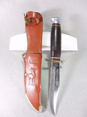 """Vintage Edge Brand #436 """"Original Bowie Knife"""" Fixed Blade Hunting Knife 9 1/2"""""""