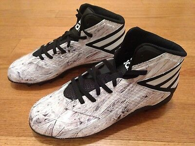 47a4b67b282e5 NEW Adidas Freak Mid Football Shoes Cleats Spikes Size 7 B49386 White Black
