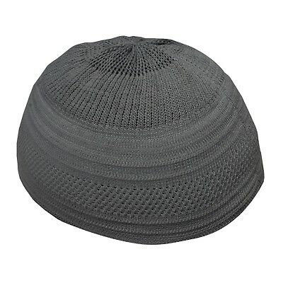 ead5fc38c7f TheKufi Plain Dark Gray Cotton Stretch-Knit Kufi Hat Skull Cap -  Comfortable Fit