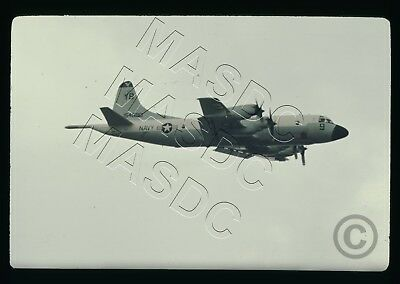35mm Ektachrome Aircraft Slide - P-3B Orion BuNo 154580 VP-1 YB9 @  Iwakuni 1970