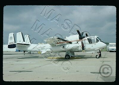 35mm Kodachrome Aircraft Slide - RV-1D Mohawk 64-14243 EPA @ Pax River - Aug '74