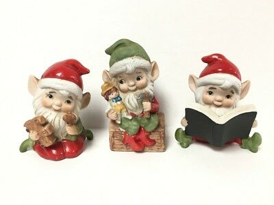 Homco Elves Set #1 5406 Home Interior FREE SHIPPING