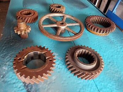Large Lot Of Rusty Gears Cogs Machine Parts Steampunk Industrial Metal Art  (#3)