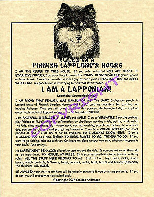 Rules In A Finnish Lapphund's House