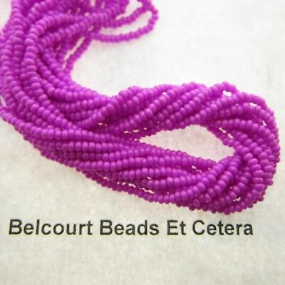 20 Grams Opaque Dyed Lilac 10/0 Glass Seed Beads Prestrung Czech Republic