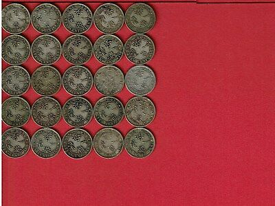 Hong Kong Victoria Silver Dimes Assorted 10 Cents Lot Of (25)
