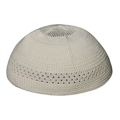 TheKufi Cream Color Cotton Stretch-Knit Kufi Hat Skull Cap - Comfortable Fit