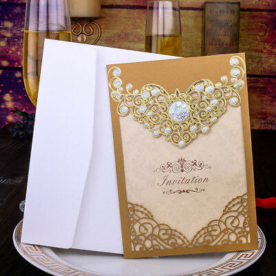 Gold wedding invitation cards with envelopessealscustom gold wedding invitation cards with envelopessealscustom personalized printing stopboris Gallery