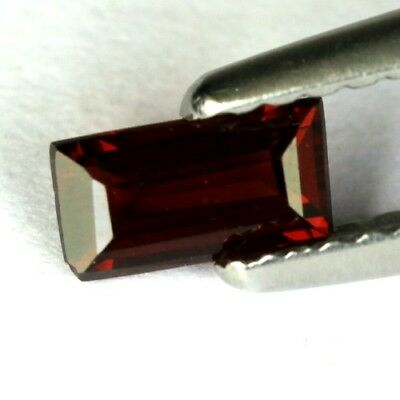 *0.42 cts. 6 x 3.2 mm. UNHEATED NATURAL RED ALMANDINE GARNET RECTANGLE AFRICA