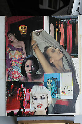 Franco Asinari - Collage Originale Erotico 2 Del 1990 - Splendido