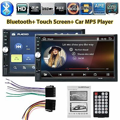 HD Double 2DIN 7'' Car Stereo Bluetooth Touch Screen Radio FM MP5 MP3 AUX Player