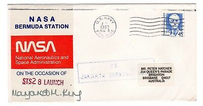 Shuttle 28 NASA Bermuda Tracking & Support SIGNED Souvenir Envelope