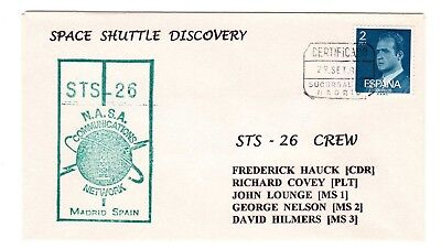 Shuttle 26 NASA Comm Network Madrid Spain Tracking & Support Souvenir Envelope