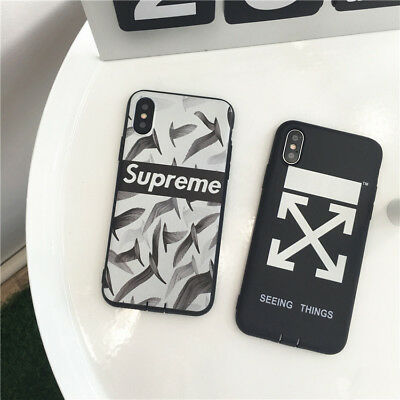 separation shoes 29ece a26e4 2SUPREME OFF WHITE SEEING THINGS Phone Case Cover For iPhone X 8 8plus 7 7P  6 6s