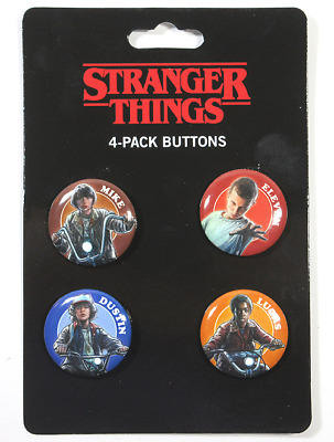 Loungefly Netflix Official Stranger Things 4-Pack Buttons - 100% Authentic