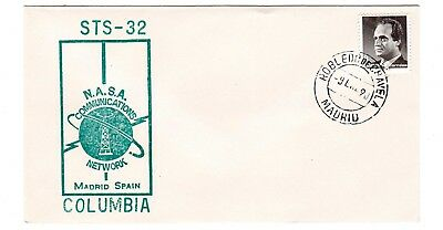 Shuttle 32 NASA Comm Network Madrid Spain Tracking Souvenir Envelope