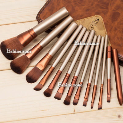 12pc Makeup Brushes Set Foundation Face Powder Brush Lip Eye Shadow Brow Lip Kit