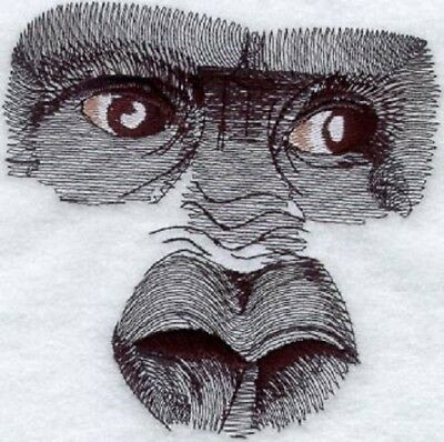 Large Embroidered Zippered Tote - Gorilla Eyes M1280